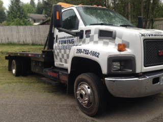 Company tow truck